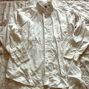 White Collared Long Sleeve Button Down, Size XL